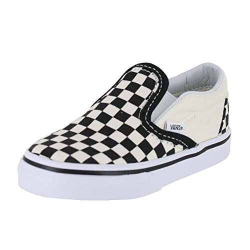 Vans Boys' Classic Slip-On (Toddler) - Black/White Checkerboard - 6 (Vans Slip Ons Girls)