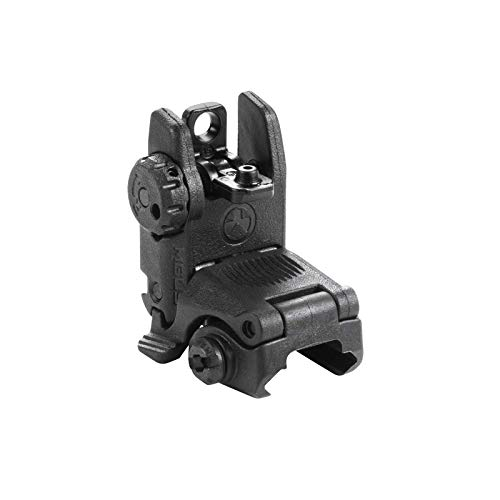 Magpul MBUS Flip-Up Backup Sights, Black, Rear Sight (Sporting Rear Sight)