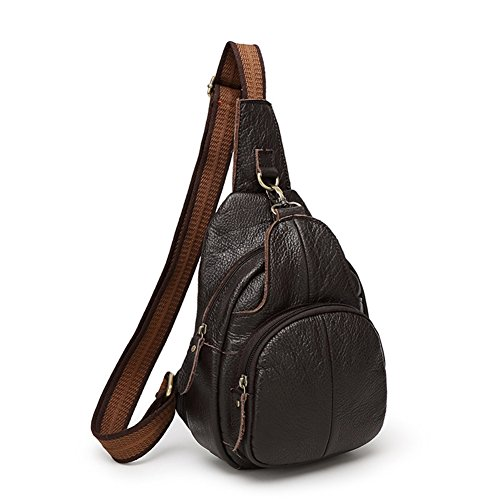 Messenger Casual Bags Men's Bag 3 Chest And Outdoor Real Leather Yxngbo Women's wqzv1zC6