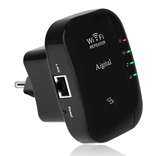 🥇 Repetidor de Red WiFi Extensor Amplificador de Signal 300Mbps/ 2.4GHz Extensor Inalámbrico señal Booster Repetidor Portátil Wireless Repeater
