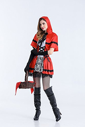 Ruanyi Little Red Riding Hood Halloween Show Party Cosplay Photography Photo Apparel for Women (Size : XXL) ()