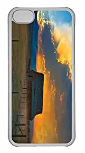 iPhone 5C Case, Personalized Custom Country Barn for iPhone 5C PC Clear Case