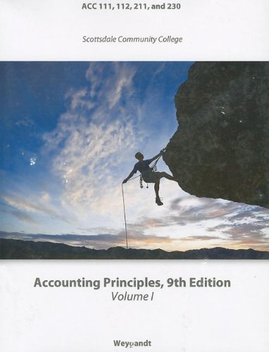 Accounting Principles (Wiley Custom Select) (Volume 1)