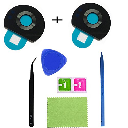 2pcs Eaglestar Z2 Play True Glass Rear Camera Cover Lens Replacement for Motorola Moto Z2 Play With Pre-installed Adhesive Tape+DIY Repair ()
