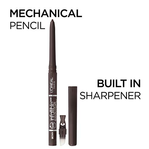 L'Oreal Paris Makeup Infallible Never Fail Original Mechanical Pencil Eyeliner with Built in Sharpener, Black, 1 Count