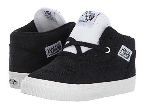 Vans Toddler's Half Cab (Snake) Black/Blanc First Walkers Shoes (4.5 Toddler M) for $<!--$29.99-->