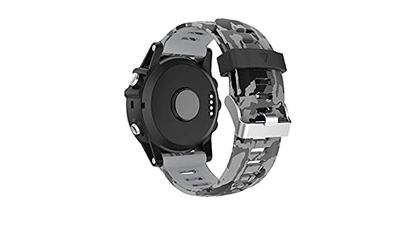 Amazon.com: Jewh Fashion Sport Style Replacement - Silicagel Soft Band Strap for Garmin Fenix 5X - GPS Watch 210mm #0110 - Garmin Fenix Watch Band (Color ...