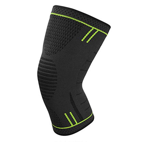 Sport Compression Kneecap Kneepad, Silicone Non-Slip Elastic Knee Brace Knee Support for Men Women, Football Volleyball Basketball Cycling Running(M,Light Green) - Foot Crusader