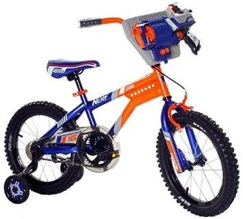 Nerf Bicicleta 16 Pulgadas, Azul y Naranja: Amazon.es: Deportes y ...