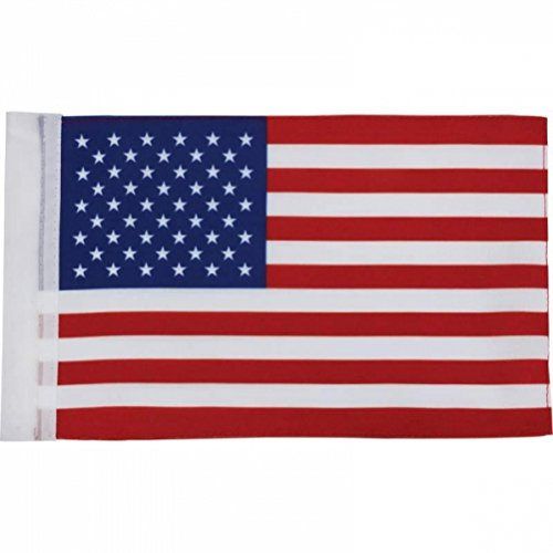 Package of 6 Motorcycle USA American Replacement Flags - 6