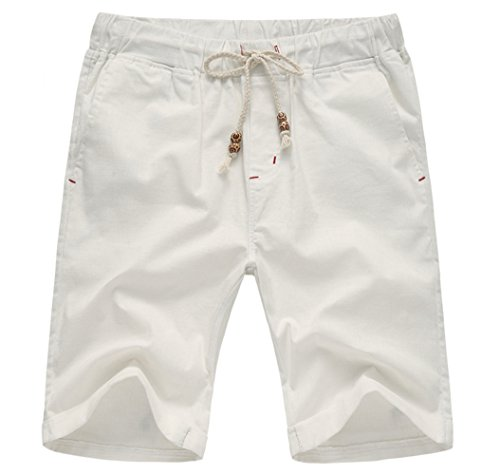 Tall Slant Pockets Shorts And Big (Our Precious Men's Linen and Cotton Casual Classic Fit Short White 2L)