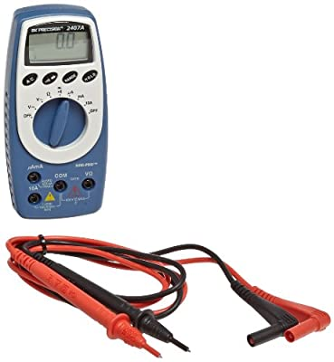 BK Precision 2407A Mini-Pro Auto-Ranging, Average-Sensing Digital Multimeter, 10 Amp, 600V, 31 Megaohms