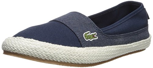 Lacoste Women's Marice Sneaker, Navy Hemp, 6 Medium US