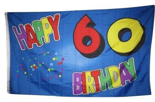 Moon 3x5 Happy 60 60th Sixtyth Birthday Rough Tex Knitted Fl