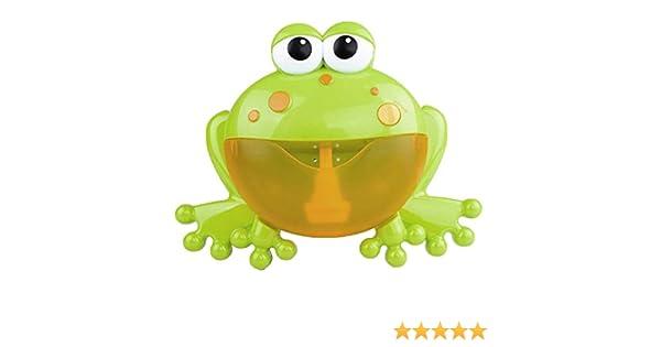 Symboat Bubble Machine Big Frogs Automatic Bubble Maker Blower Music Baby Bath Toy