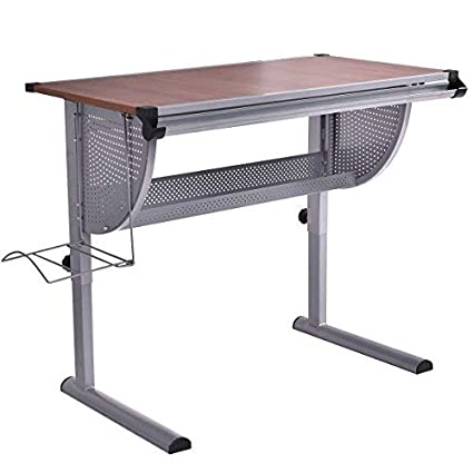 Tangkula Drawing Desk Adjustable Drafting Table Art /& Craft Hobby Studio Home Office Furniture
