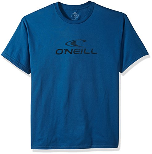 - O'Neill Men's Modern Fit Logo Short Sleeve T-Shirt, Supreme Air Force Blue, XL
