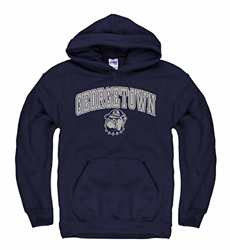 (Campus Colors Georgetown Hoyas Arch & Logo Gameday Hooded Sweatshirt - Navy, Large)