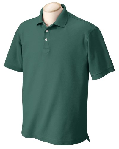 Chestnut Hill Men's Short Sleeve Performance Plus Pique Polo Shirt CH100 green Small (Mens Chestnut Shirt)