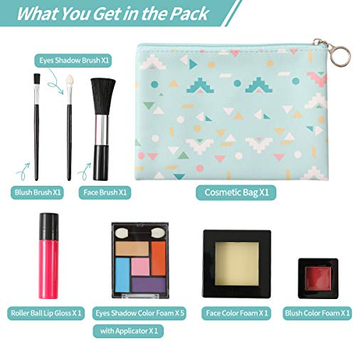 TOKIA Pretend Play Makeup for Toddlers and Little Girls with Cosmetic Bag ( Not Real Makeup No Mess  - http://coolthings.us