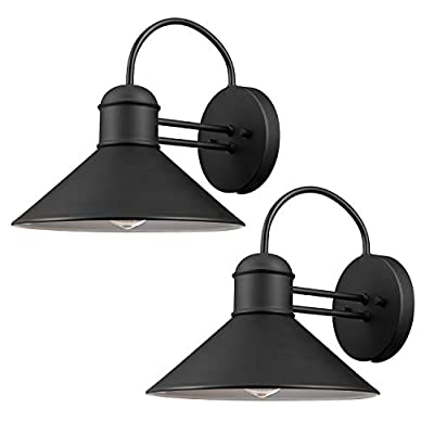 Globe Electric 44264 Bolton 1-Light Outdoor Indoor Wall Sconce, Matte Black