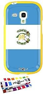 Carcasa Flexible Ultra-Slim SAMSUNG GALAXY S3 MINI de exclusivo motivo [Guatemala Bandera] [Amarillo] de MUZZANO  + ESTILETE y PAÑO MUZZANO REGALADOS - La Protección Antigolpes ULTIMA, ELEGANTE Y DURADERA para su SAMSUNG GALAXY S3 MINI