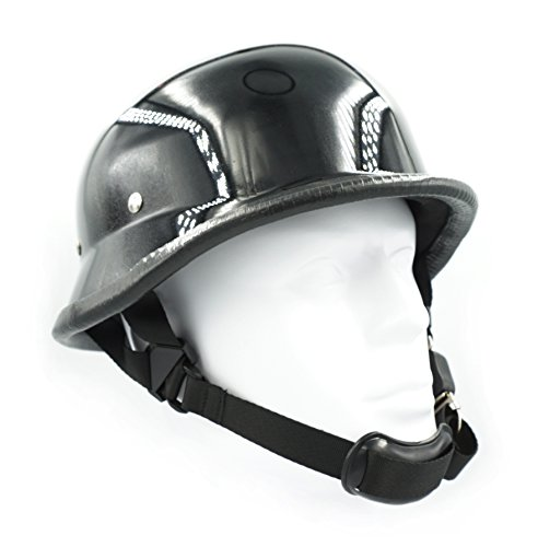 Hot Rides Chopper Biker Motorcycle Helmet Novelty German Gloss Black (Large)]()