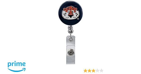 WinCraft Auburn Tigers Official NCAA 1 inch x 1 inch Retractable Badge Holder Key Chain Keychain by 254184