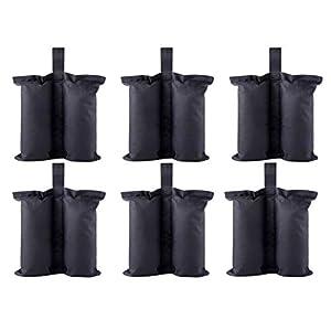 CACTIYE - Sacchetti per pesi per gazebo e gazebo istantanei di alta qualità, per tenda a baldacchino, con ponderati, 6…