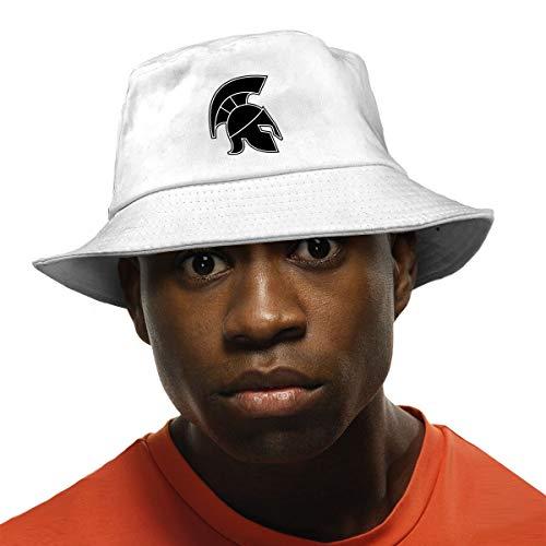 Michigan Sunshade - Fashion Sunshade Hip-Hop Michigan State Spartan Helmet Bucket Hat Fisherman Cap