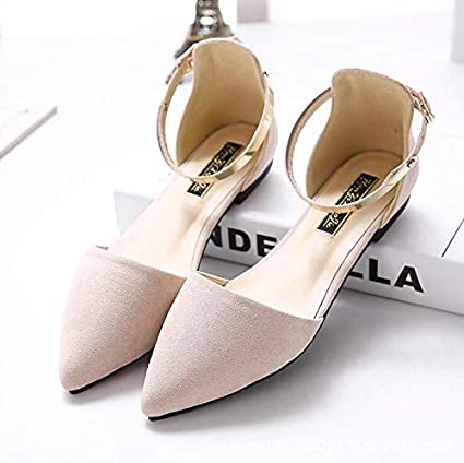 2a0d8868a2db0 Amazon.com : JingZhou Women's Pointed Toe Ballet Flats with Metal ...