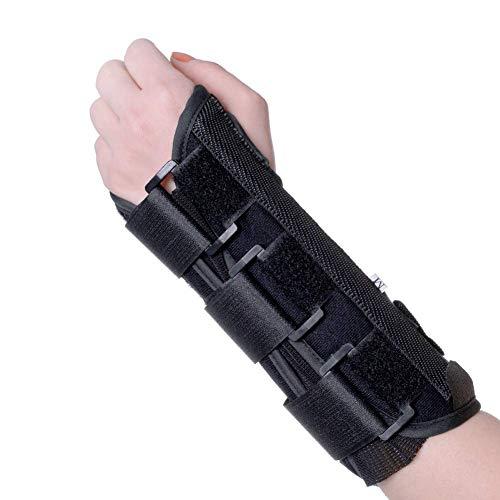 KNASI Carpal Tunnel Wrist Brace Night Support,Left Hand Orthopedic Wrist Splint Arm Brace for Tendonitis Arthritis,Adjustable Wrist Guards Women Man (New Left, Large)