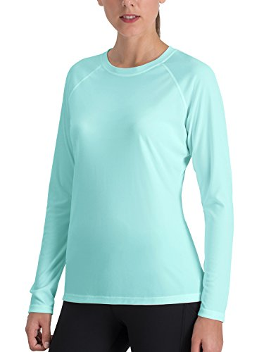 NAVISKIN Women's Sun Protection UPF 50+ UV Outdoor Long Sleeve T-Shirt Green Size M