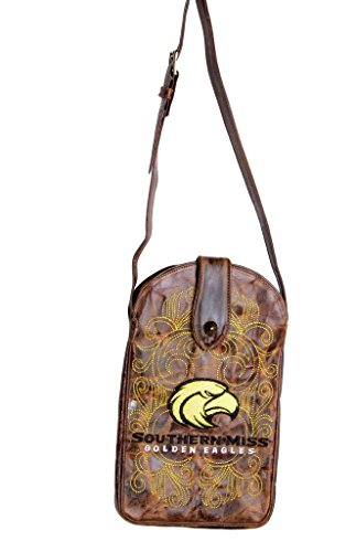 NCAA Southern Mississippi Golden Eagles Women's Cross Body Purse, Brass, One Size by Gameday Boots