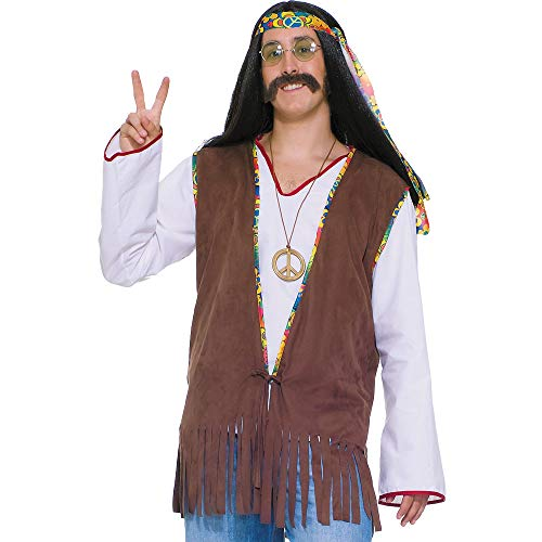 AMSCAN Fringe Vest Halloween Costume Accessory for Adults, One Size ()