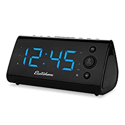 Electrohome Alarm Clock Radio with USB Charging for Smartphones & Tablets includes Dual Alarm, Battery Backup, Auto Time Set & 1.2\