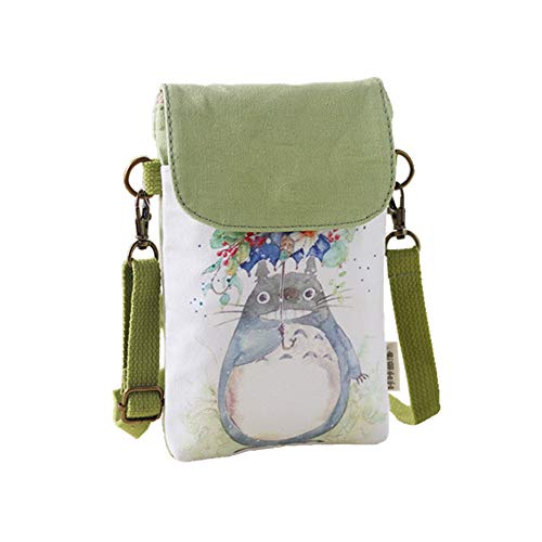 Abaddon Vintage Printed Handmade Women Mini Crossbody Bag Cellphone Pouch Small Handbag Coin Purse (totoro)