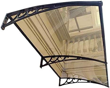 LPD Exterior Toldo Marquesina De Protección Impermeable para Terrazas Canopy Jardín Al Aire Libre Dosel De Techo (Color : Brown-A, Size : 60cmx160cm): Amazon.es: Hogar