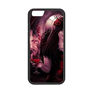 Personality customization Gothic Gothic girl 24296 Phone Back Case Customized Art Print Design Hard Shell Protection IPhone 6 Plus By CUY Cases