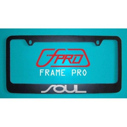 (Kia Soul License Plate Frame Black (Zinc Metal))