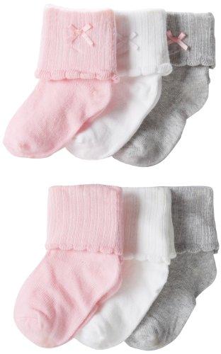Carters Baby Girls Newborn Scalloped Booties