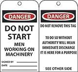 DANGER DO NOT START MEN WORK- ING ON MAC