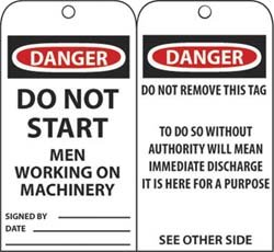 DANGER DO NOT START MEN WORK- ING ON MAC by NMC (Image #1)