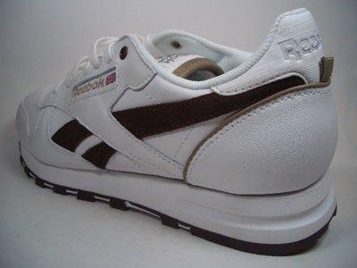 Reebok Classic Leather, fabricado con piel, amortiguación óptima., Blanco de color marrón, tamaño euro 47/Us 13/UK 12/31cm