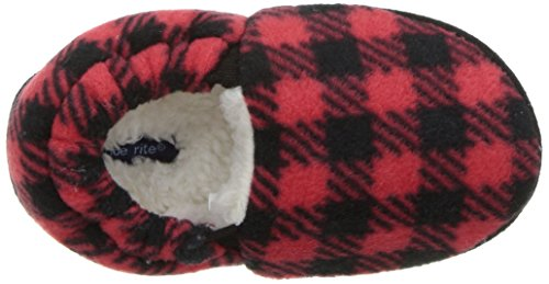 Stride Rite Boy's Hunter Buffalo Plaid A Line Slipper Shoe, Red, 9/10 M US Toddler - Image 8