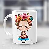 Taza Frida Kahlo Vestido Colores Regalos #007