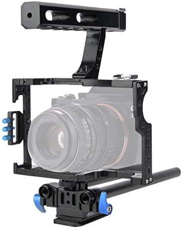 カメラケージ VBESTLIFE 映画制作カメラビデオケージセット ハンドル付き トップハンドル 三脚台マウント プレートチーズ