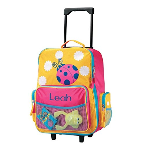 Personalized Girls Ladybug Rolling Suitcase - Customize with Your Child's Name - Luggage