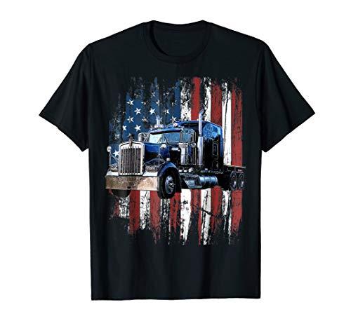 Trucker American Flag Truck Driver Shirt Truck Driver Gift