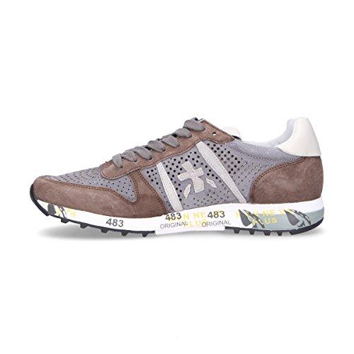 Premiata Mens Eric3145 Sneakers In Camoscio Marrone